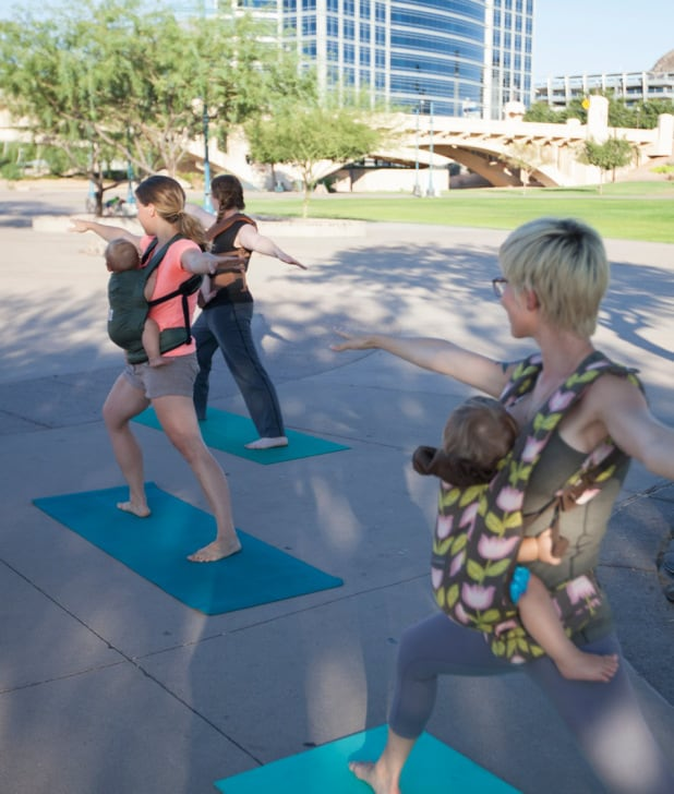 Babywearing fitness - babywearing yoga