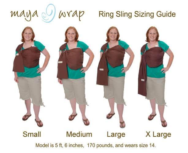 Maya Wrap Ring Slings Size Chart