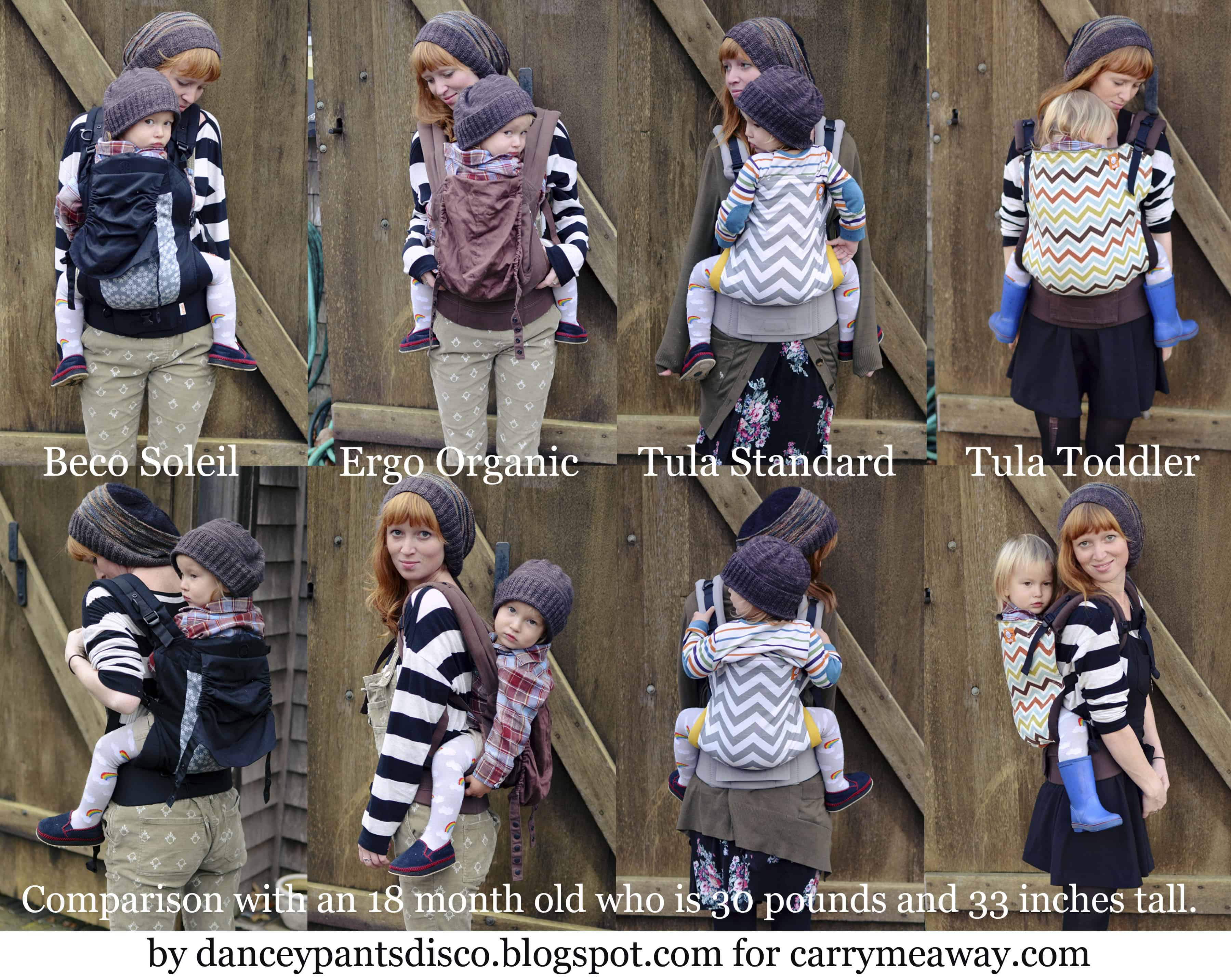 Our Comparison Chart Of Toddler Buckle Carriers Carry Me