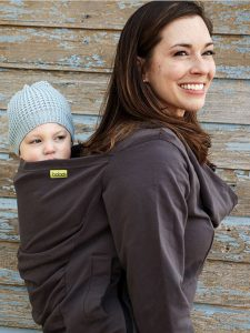 Gray Boba Hoodie Boba Baby Carrier Hoodie Cold Weather Babywearing