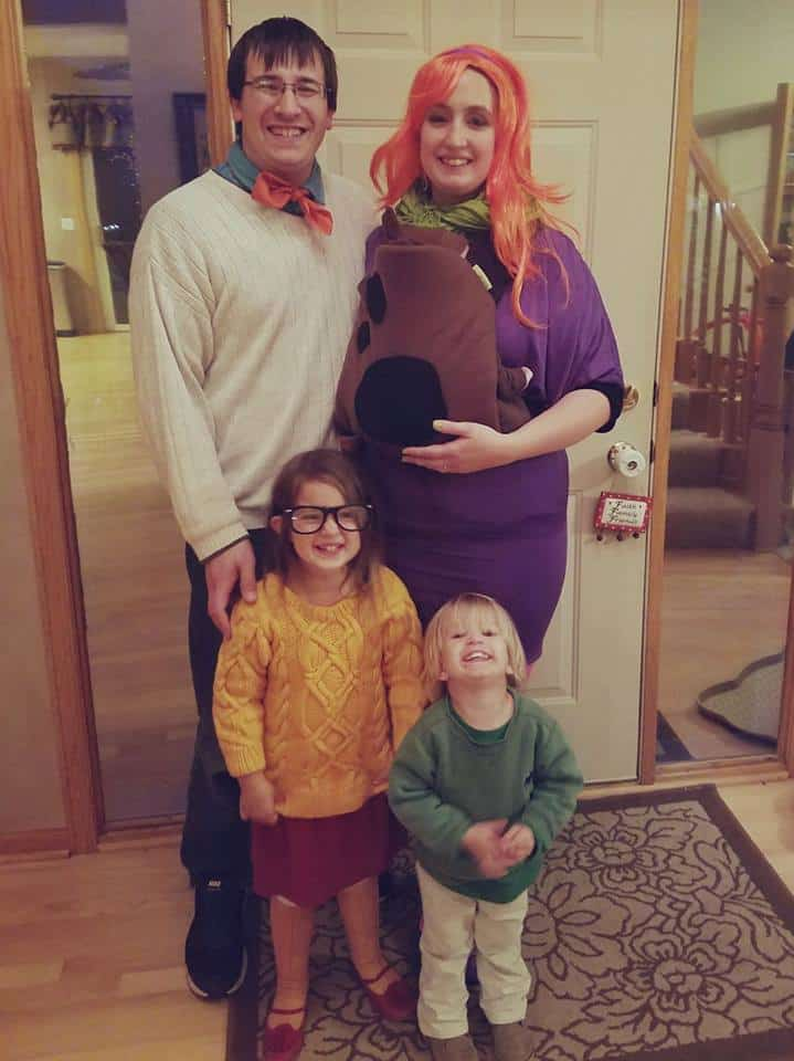 Babywearing Halloween costumes 2016: Scooby Doo Gang, by Shawna Oakland Evans