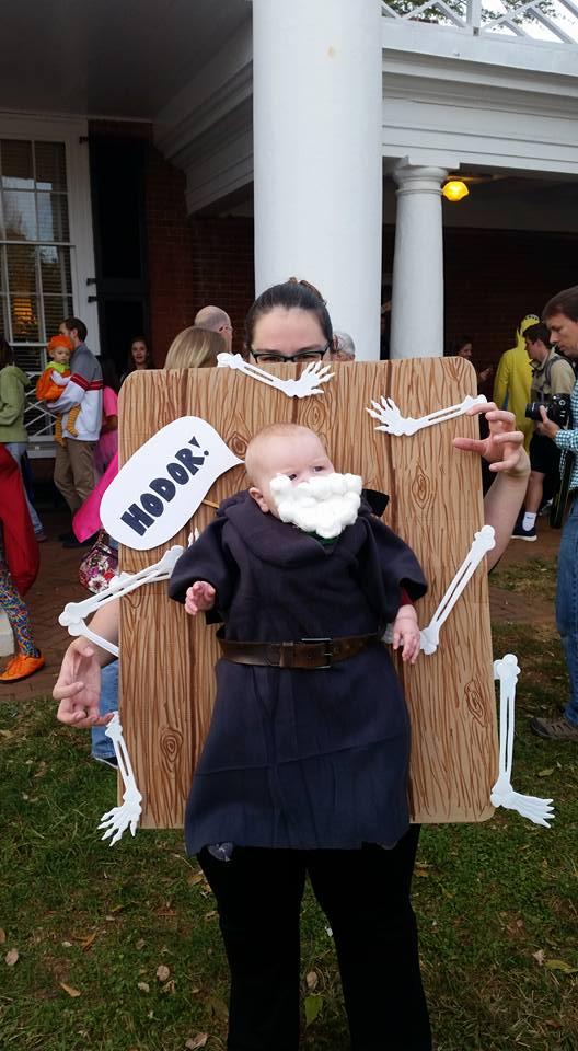 Babywearing Halloween costumes 2016: Hodor Game of Thrones, by Valerie Harness