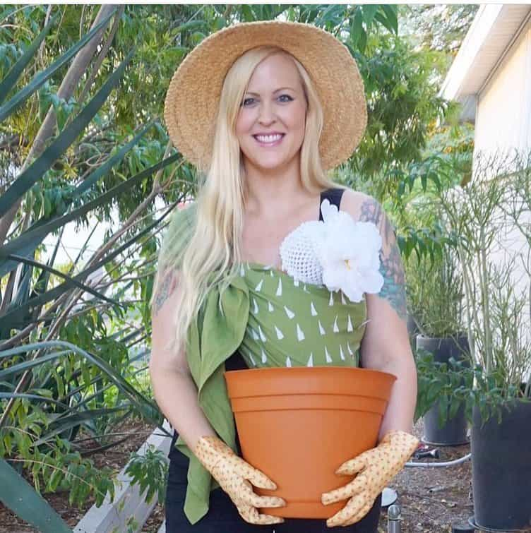 Babywearing Halloween costumes 2016: Cactus in a pot, by @fifilynn