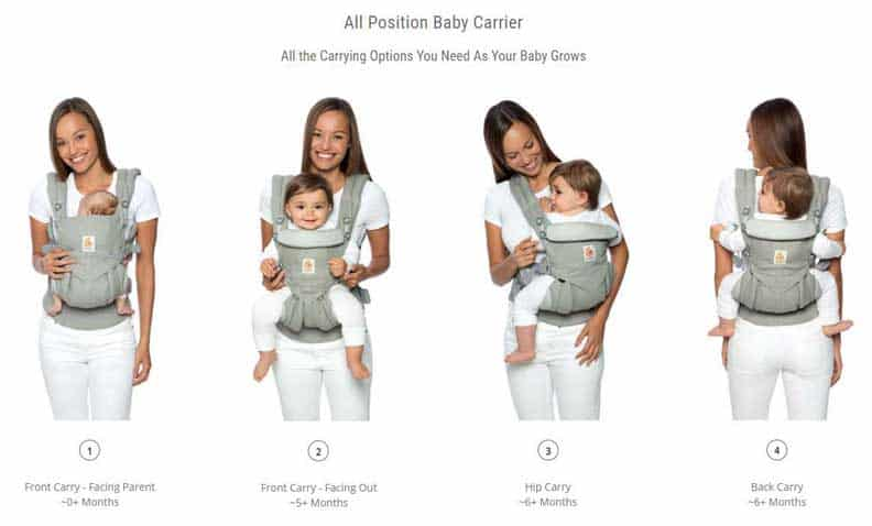 Ergobaby Omni All Position Baby Carrier | Omni Ergo Carrier | Ergobaby Carriers
