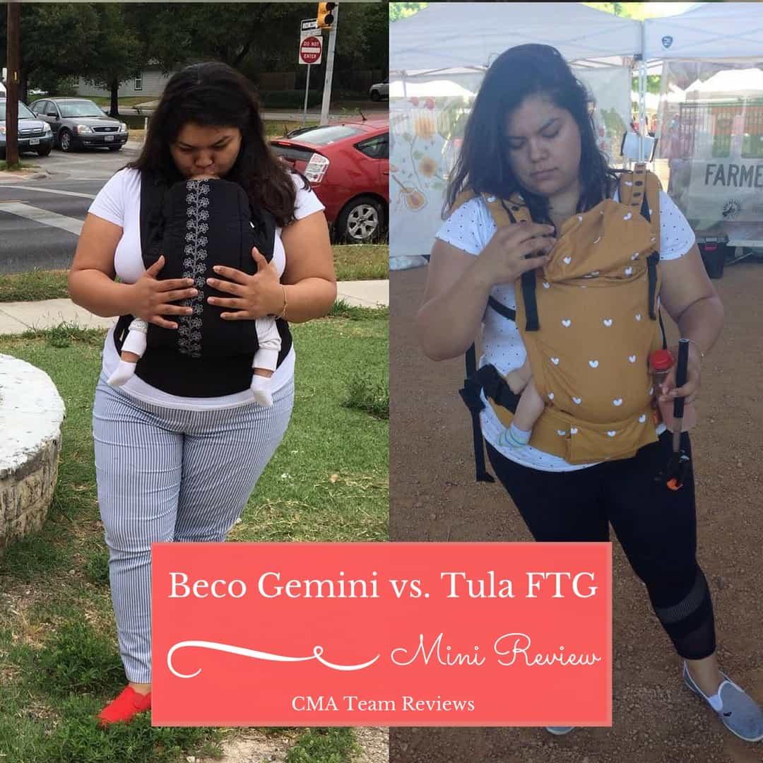 65b311b952b Two moms review the Beco Gemini vs. the Tula Free to Grow Carriers ...