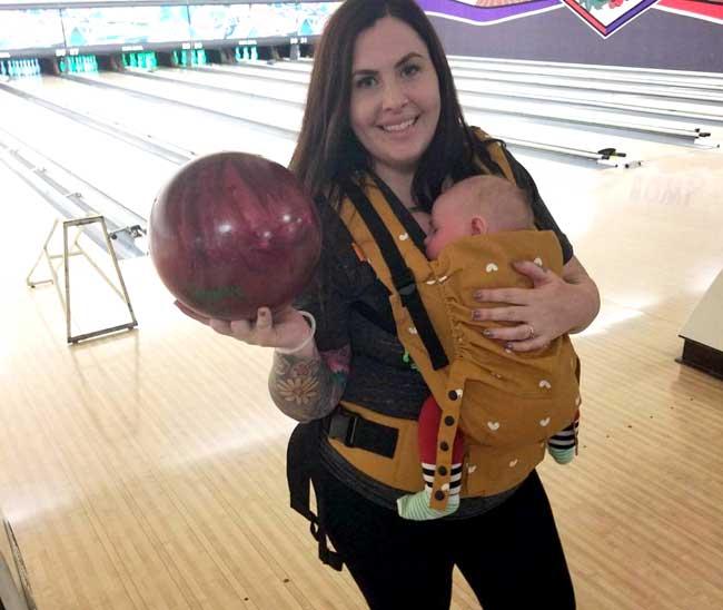 Bowling and Babywearing